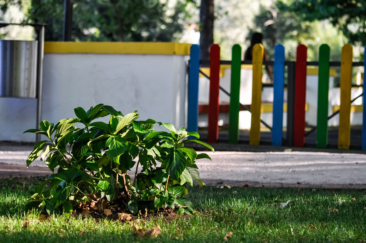 play area, playground, fence